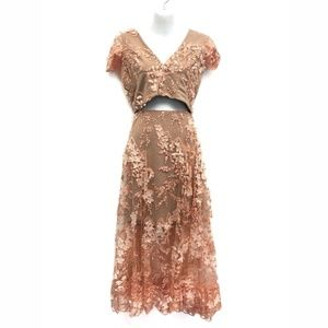 Dress the Population 3D Julian Lace Dress - Size M